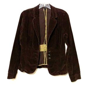 Brown corduroy coat blazer